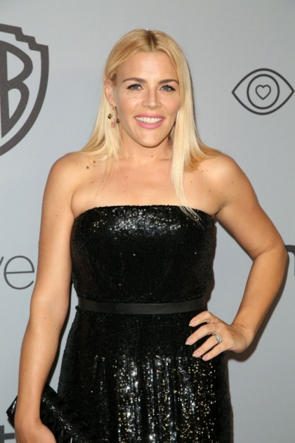 Busy Phillips in Jeffrey Dodd at a Globes party: dazzling or dull?