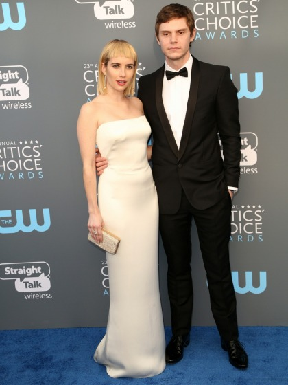 Emma Roberts debuted some terrible bangs at the Critics Choice Awards
