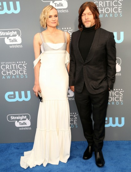 Diane Kruger & Norman Reedus became red-carpet official at the Critics Choice Awards