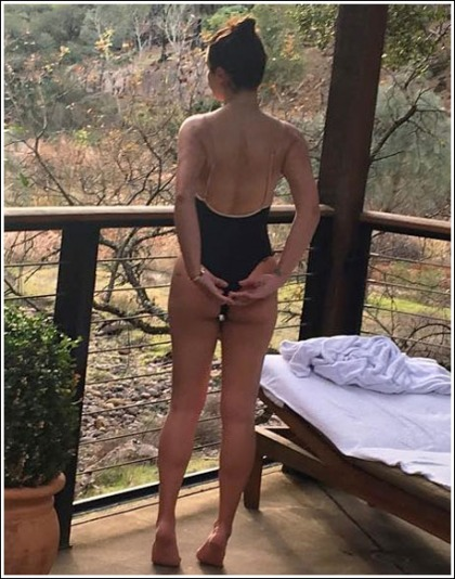 Lea Michele Shows Off Her Awesome Little Booty In A Skimpy Swimtuit