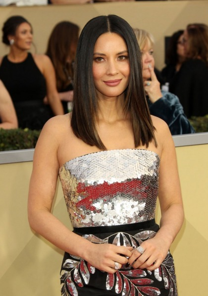 Olivia Munn in Oscar de la Renta at the SAG Awards: sequin hit or miss?