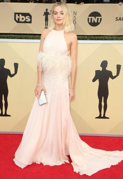 Margot Robbie in Miu Miu at the SAG Awards: too frothy or just fine?