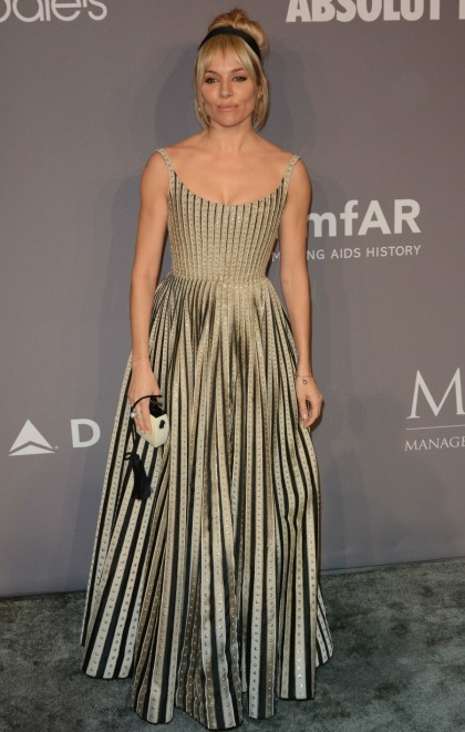Sienna Miller in Dior at the 2018 NYFW amfAR gala: circus tent or enchanting?