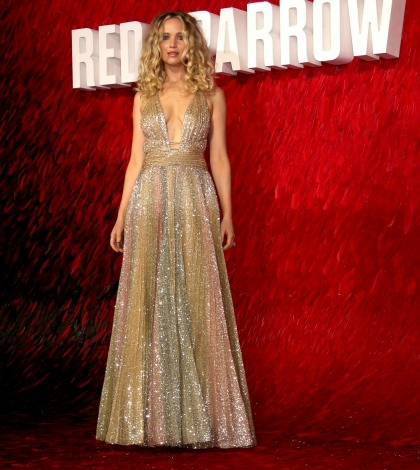 Jennifer Lawrence in Dior at the UK 'Red Sparrow' premiere: gorgeous or blah'