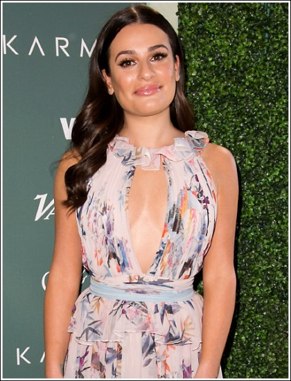 Lea Michele Drops Some Seriously Sexy Braless Cleavage Action