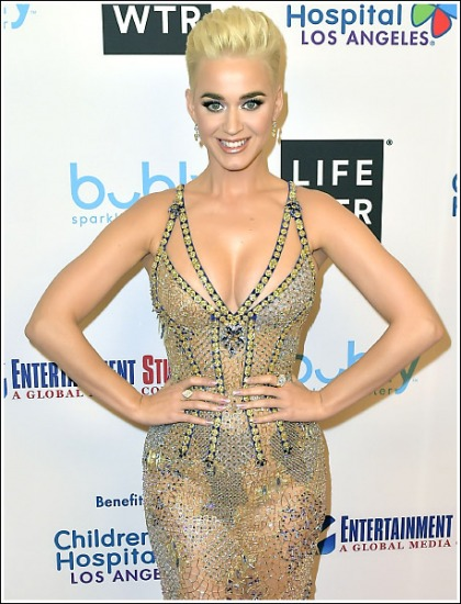 Katy Perry Busts Out A Ton Of Her Ginormous Braless Cleavage' WOW!