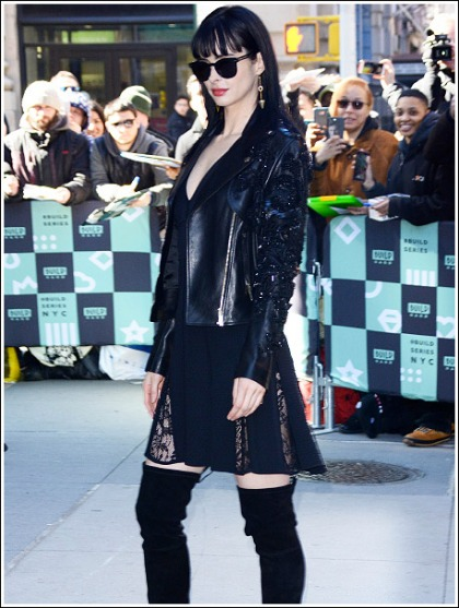 Krysten Ritter Gets Leggy In Naughty Thigh-High Boots