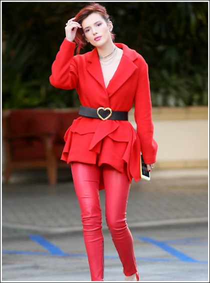 Bella Thorne Ultra Leggy And Red Hot And From Head To Toe