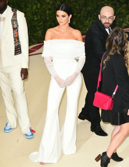 Kendall Jenner in Off-White at the Met Gala: aggressively off-theme?