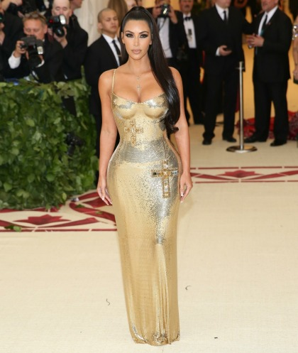 Kim Kardashian wore gold Versace to the Met Gala & it was surprisingly' okay'