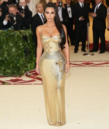 Kim Kardashian wore gold Versace to the Met Gala & it was surprisingly' okay'