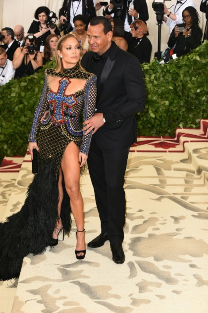 Jennifer Lopez in Balmain at the Met Gala: retro perfection?