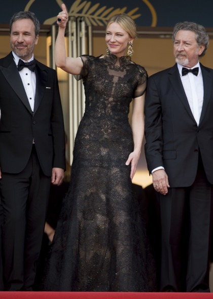 Cate Blanchett in Armani Prive in Cannes: doily realness or just beautiful?