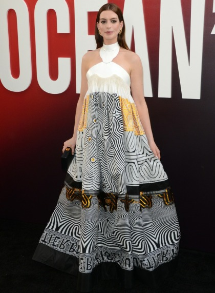 Anne Hathaway in Jean Paul Gaultier at the 'Ocean's Eight' premiere: cute or nah'