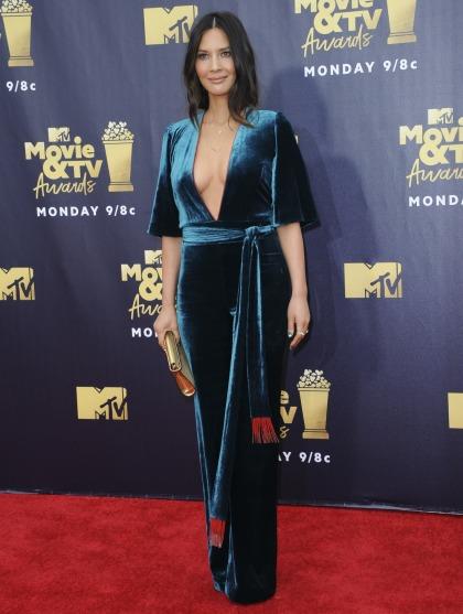 Olivia Munn in velvet Galvan at the MTV Movie Awards: lovely or jacked?