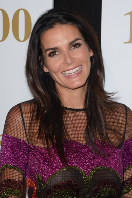 Angie Harmon poses in a bikini on vacation for her 46th birthday