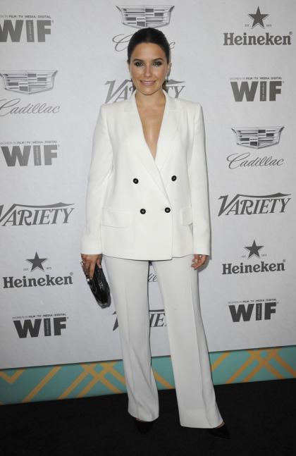 Sophia Bush in a pantsuit at the Variety Emmy Party: needs tailoring or lovely?