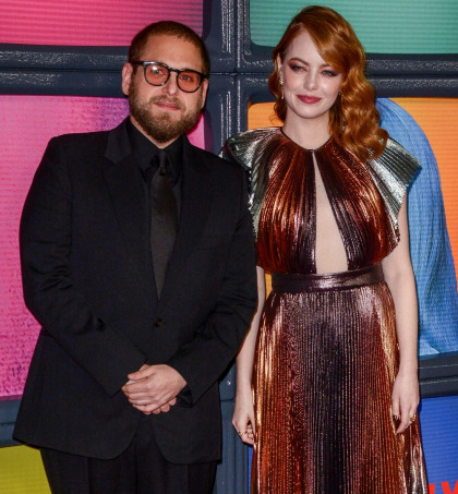 Emma Stone in metallic Givenchy at the NYC 'Maniac' premiere: stunning or blah'