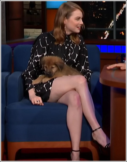 Emma Stone Puts On A Drool-Inducing Leg Show!