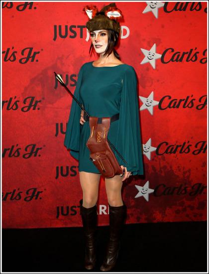 Ashley Greene Dressed Up As A Sexy/Leggy Fox For Halloween!