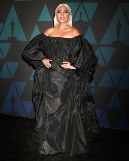 Lady Gaga wore a Valentino trash bag to the Governors Awards: goth-fab or goth-fug?