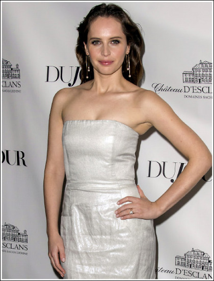 The Force Is Strong With Felicity Jones' Huge Braless Cleavage Show