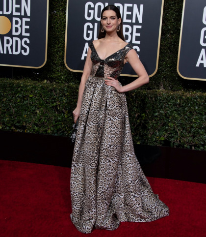 Was Anne Hathaway's animal-print Elie Saab one of the worst looks of the Globes'