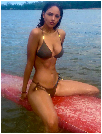 Eiza Gonzalez Busting Out Her Ginormous Cleavage And Her Insanely Sexy Body In A Tiny Bikini!