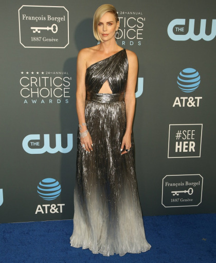 Charlize Theron in Givenchy at the Critics' Choice Awards: overdone or stunning'