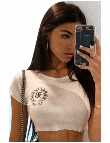 Madison Beer Selfies Her Massive Bosom In A Tiny T-Shirt!