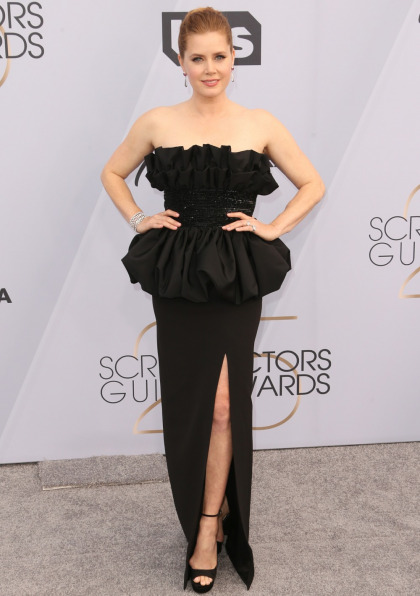 Amy Adams in a peplum?d Celine at the SAGs: lovely & perpetually snubbed?