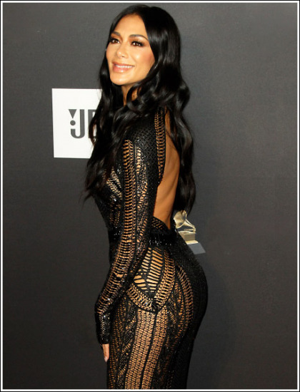 Nicole Scherzinger Busting Out Her Bootylicious Booty In A Revealing Dress' Dayuuuuuuumn!