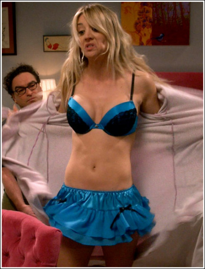 Kaley Cuoco Gets Cleavagy, And Busty, And Ultra Sexy In Lingerie, Oh My!
