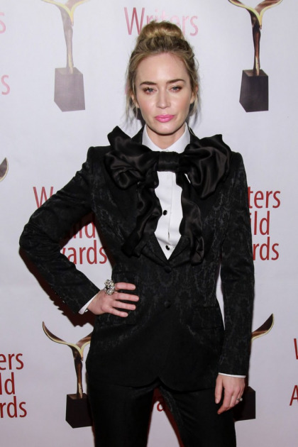 Emily Blunt in Dolce & Gabbana at the Writer's Guild Awards: whimsical or goofy'