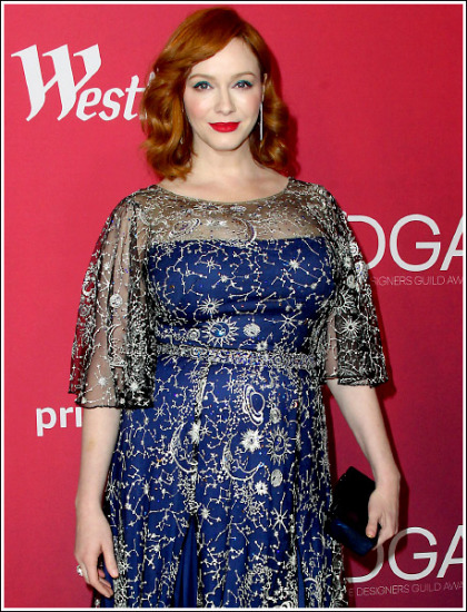 Christina Hendricks Busts Out Her Ginormous Super Bosom Like Bananas!