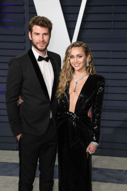 Miley Cyrus in Saint Laurent at the VF Oscar party: too much or lovely?