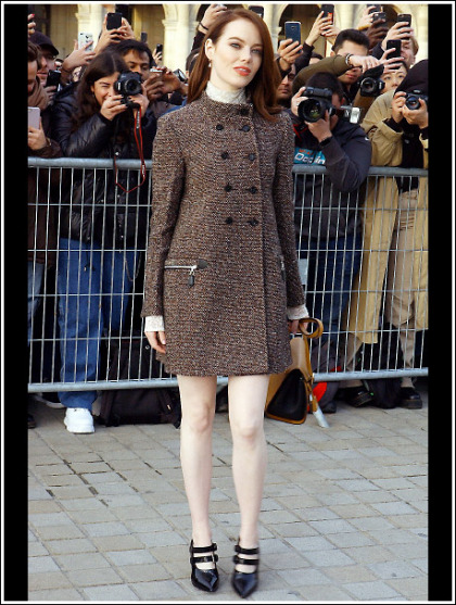 Emma Stone Gets Ridiculously Cute And Ultra Leggy!