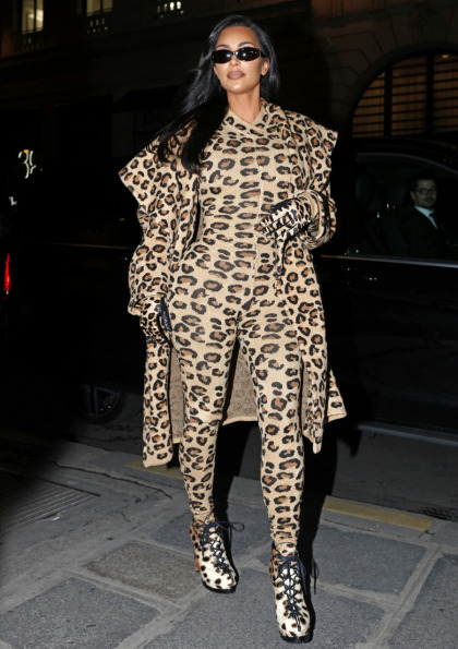 Kim Kardashian stepped out in Paris in head-to-toe animal-print Ala?a: cheap or fine?