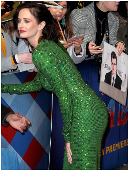 Eva Green Busting Out Her Massive Bosom And Bootylicious Booty In A Skin-Tight Dress!